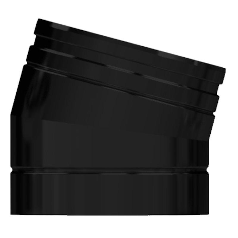 Midtherm HTS Twinwall Flue 15° Elbow - Black
