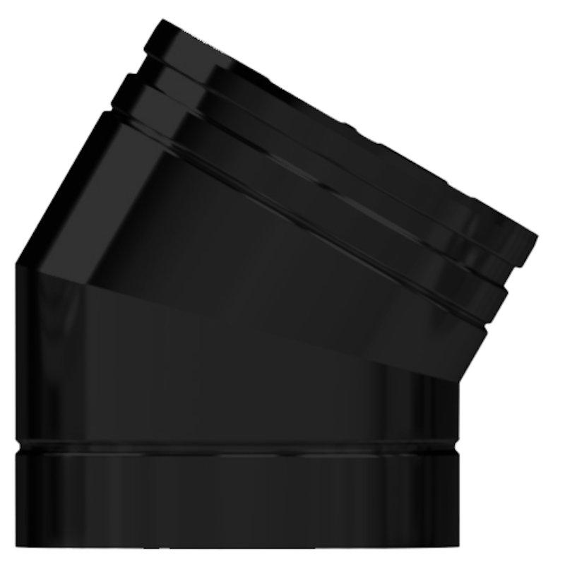 Midtherm HTS Twinwall Flue 30° Elbow - Black