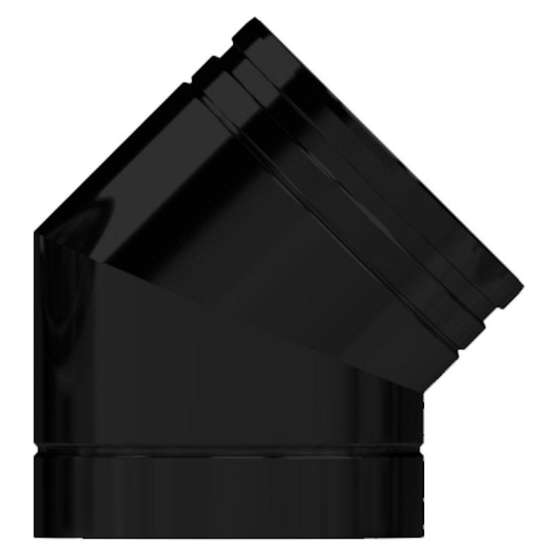 Midtherm HTS Twinwall Flue 45° Elbow - Black