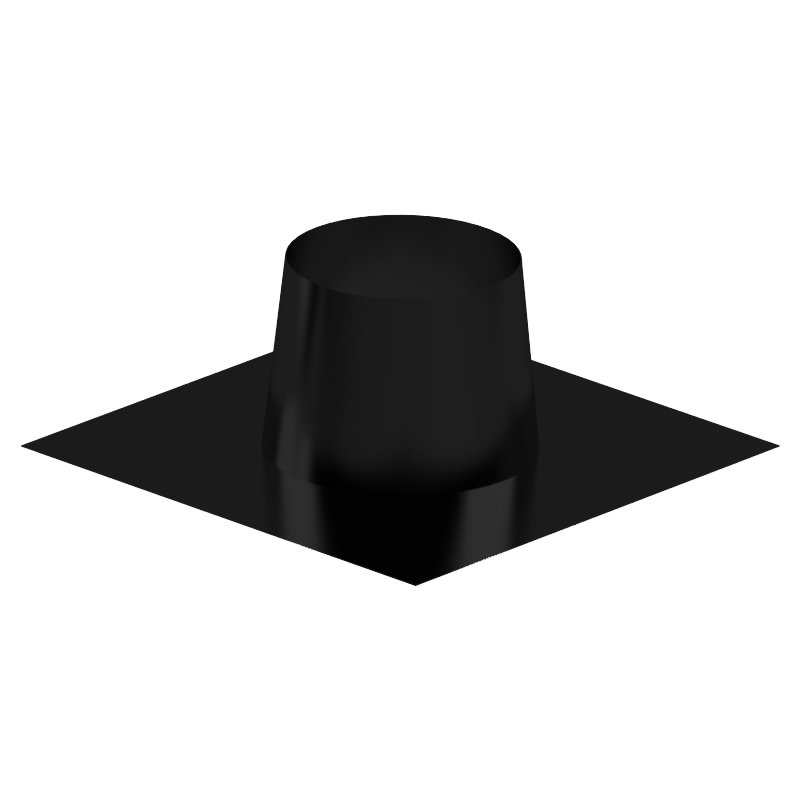 Midtherm HTS Twinwall Flue Flat Roof Flashing - Black