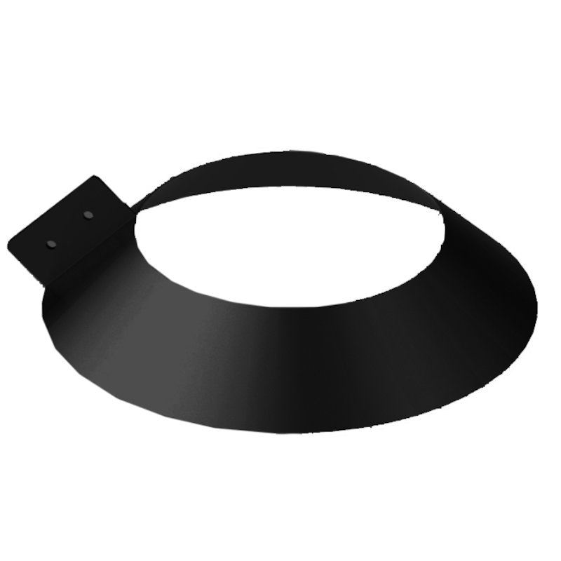 Midtherm HTS Twinwall Flue Storm Collar Flashing - Black