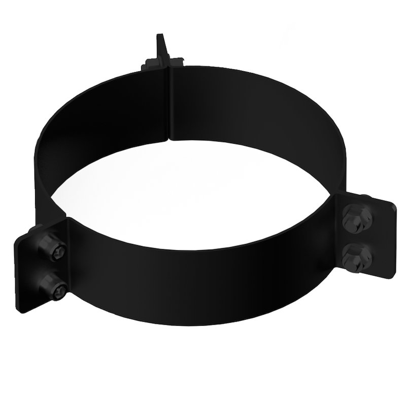 Midtherm HTS Twinwall Flue Guy Wire Bracket - Black
