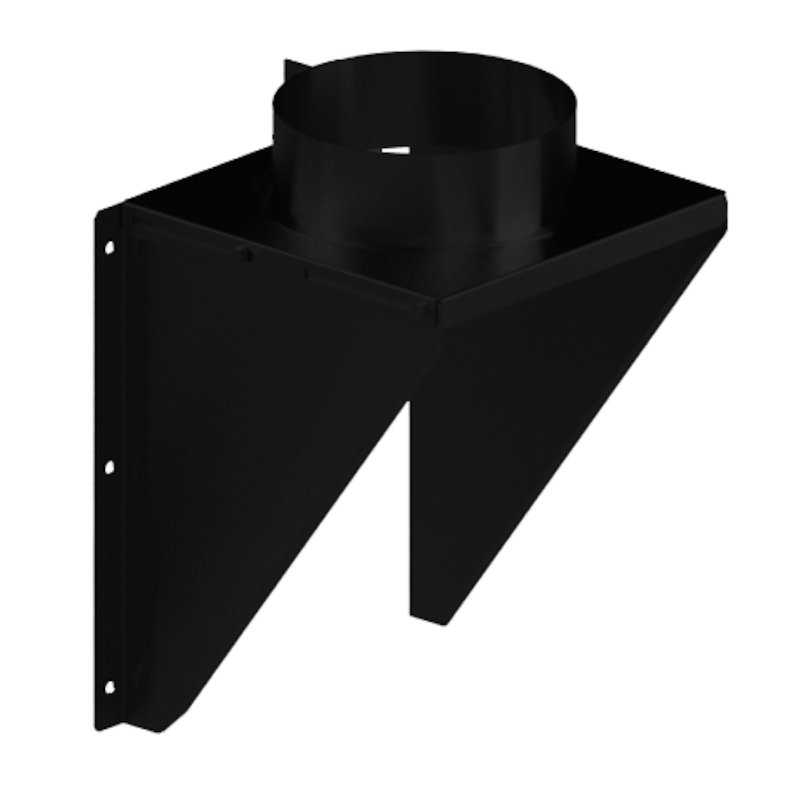 Midtherm HTS Twinwall Flue Intermidiate Wall Support Bracket - Black