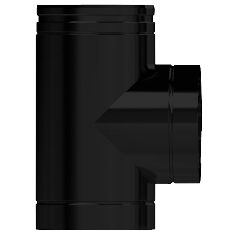 Midtherm HTS Twinwall Flue 90° Tee Piece - Black