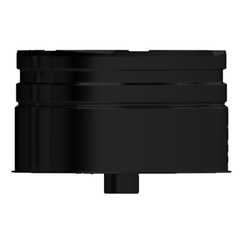 Midtherm HTS Twinwall Flue Tee Cap - Black