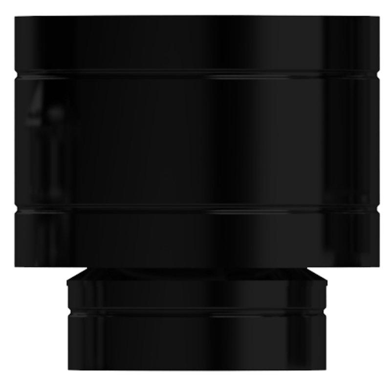 Midtherm HTS Twinwall Flue Sweedish Universal Gas Cowl - Black
