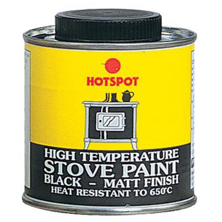 Hotspot Heat Resistant Stove Paint - Tin Matt Black Medium - Matt Black
