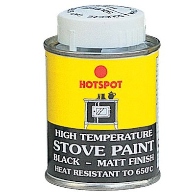 Hotspot Heat Resistant Stove Paint - Tin Matt Black Small