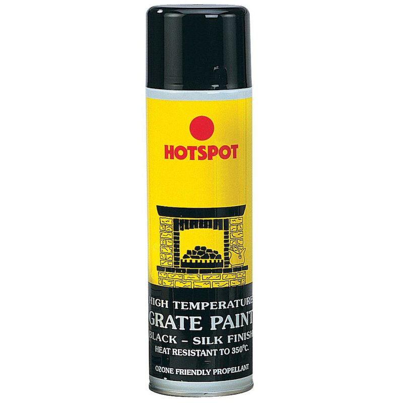 Hotspot Heat Resistant Grate Paint - Aerosol Spray - Satin Black