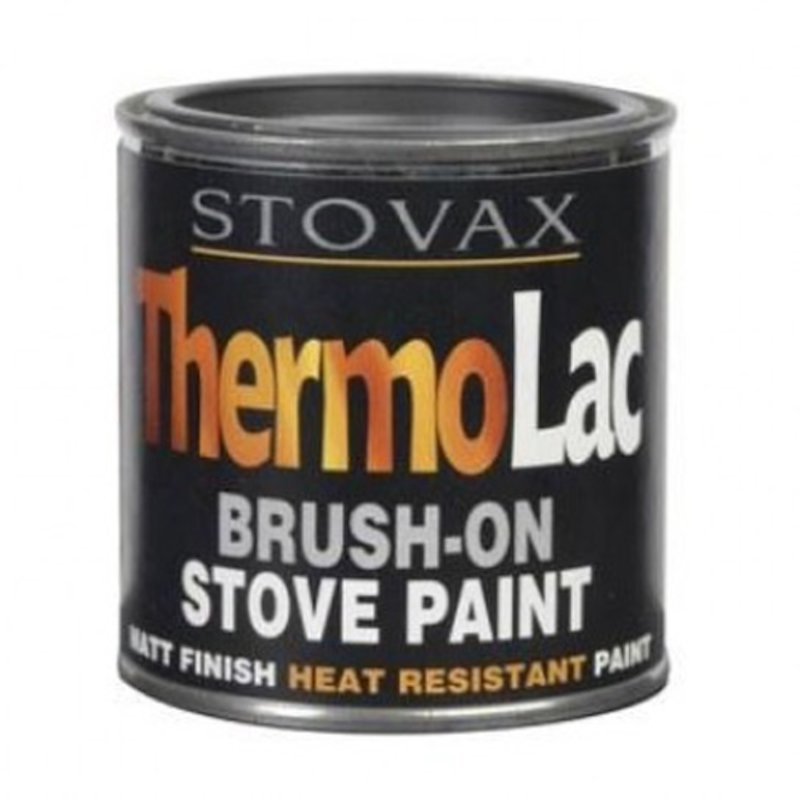 Thermolac Heat Resistant Stove Paint - Tin - Matt Black