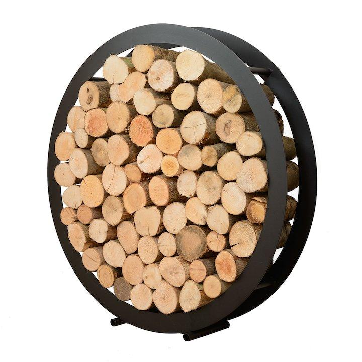 Harrod Circular Log Holder - Black