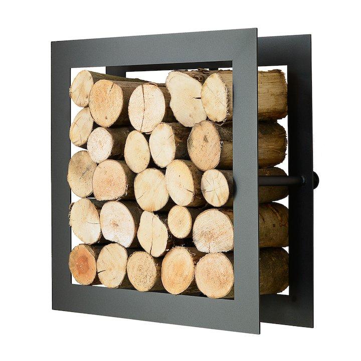 Harrod Square Log Holder - Black