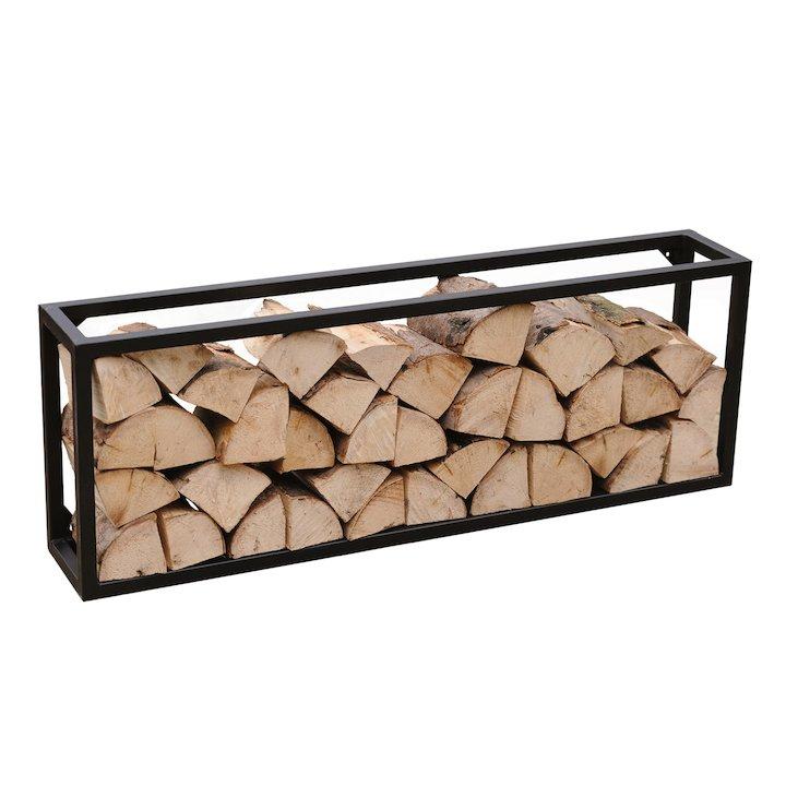 Harrod Rectangle Log Holder - Black