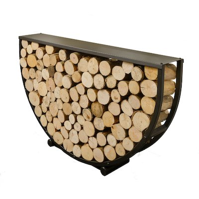 Harrod Semi Circle Log Holder Black Deluxe