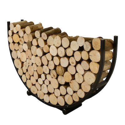 Harrod Semi Circle Log Holder Black Standard