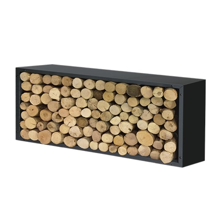 Harrod Contemporary Log Holder - Black