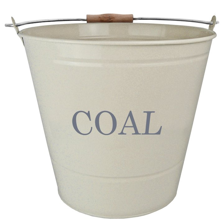 Manor Coal Bucket with Handle - Cream