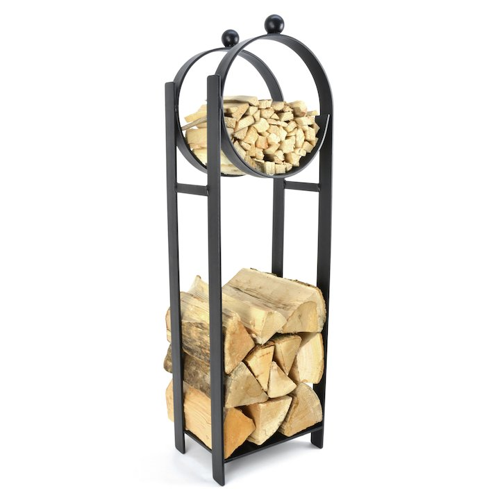 Manor Blacksmith Stand Log Holder - Black