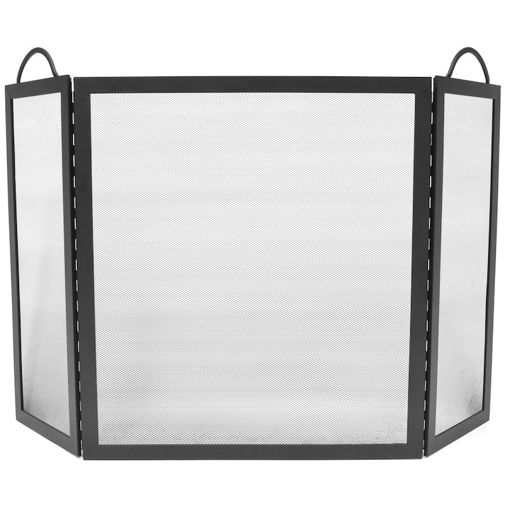 Manor Vermont 3 Fold Fire Screen - Black