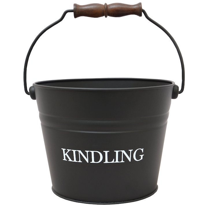 Calfire Kindling Small Bucket - With Handle - Black