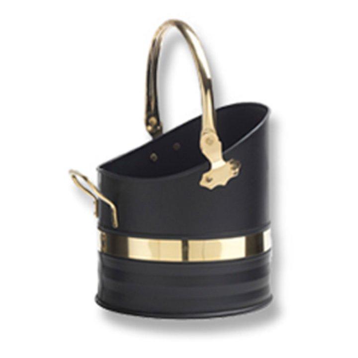 Firemaster Melrose Coal Bucket - Clearance - Black / Brass