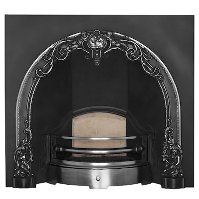 Carron Cherub Cast-Iron Arched Fireplace Insert