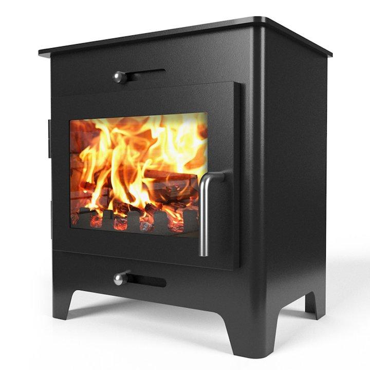 Saltfire ST1 Wood Stove - Metallic Black