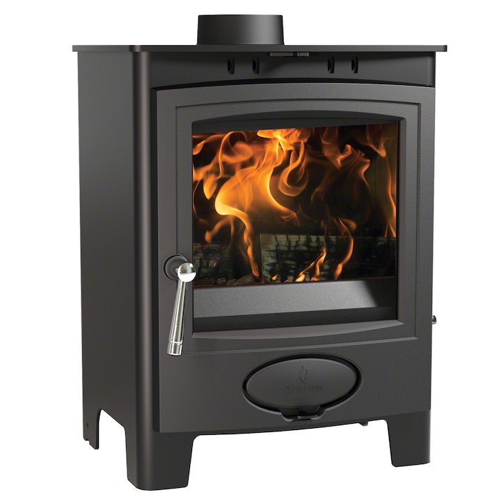Arada Ecoburn Plus 5 Multifuel Stove - Midnight Black