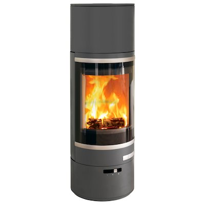 Scan 85 HL Wood Stove Grey Silver Trim