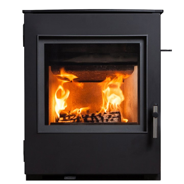 ESSE 301 Multifuel Inset Stove Black Contemporary Door - Black