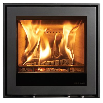 Stovax Elise 540 Multifuel Cassette Fire - Frontal Black Three Sided Edge+ Frame