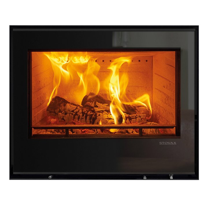 Stovax Elise 680 Multifuel Cassette Fire - Frontal Black Glass Frameless/Edge - Black Glass