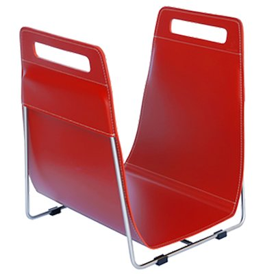 Ferrari Opus Focus Corrium Log Carrier - With Stand Red Stainless Steel