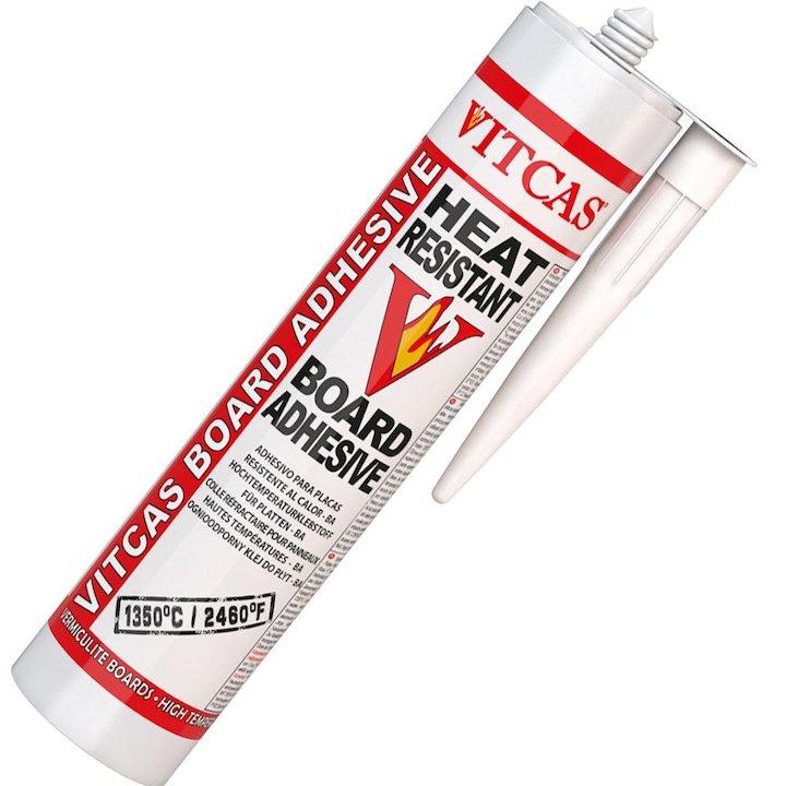 Vitcas Heat Resistant Board Adhesive 310ml Cartridge - Grey