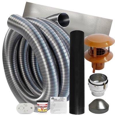 10m Flexible Chimney Flue Liner Kit - 316/316