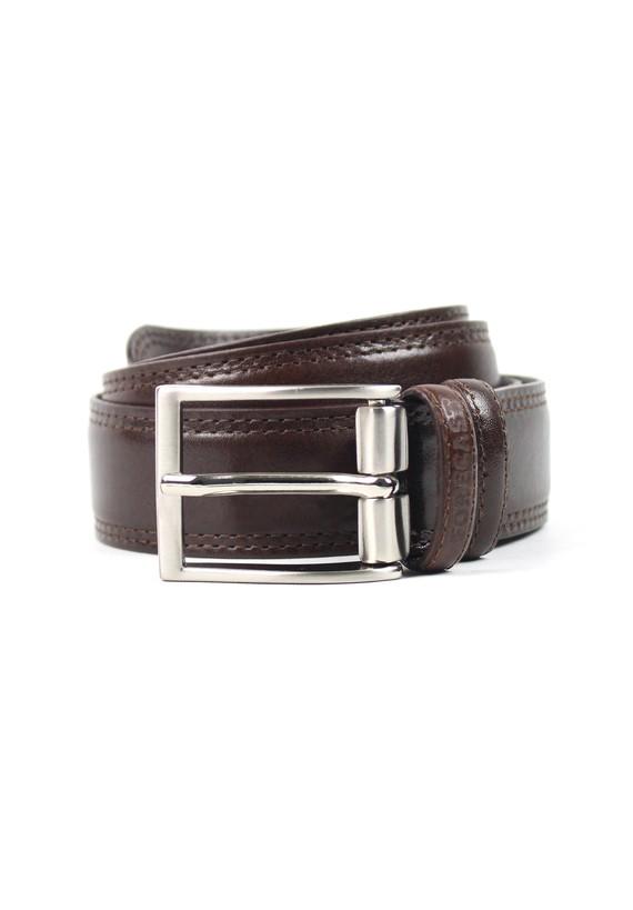 Cinturón de piel liso - Marron