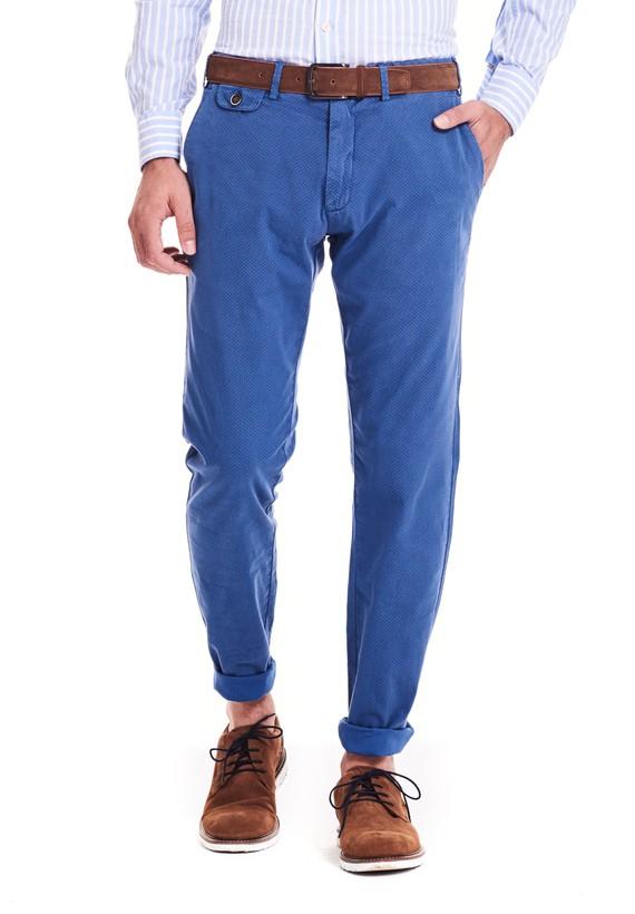 Pantalón chino slim - Azul
