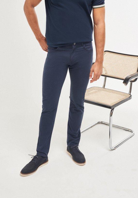 Pantalón 5 bolsillos slim fit - Marino