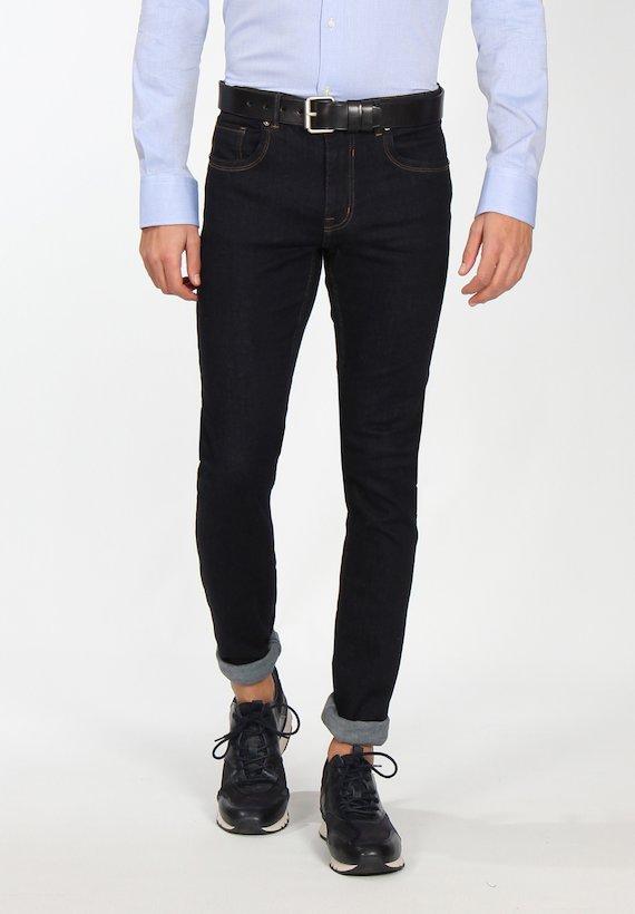 Pantalón vaquero pespuntes regular