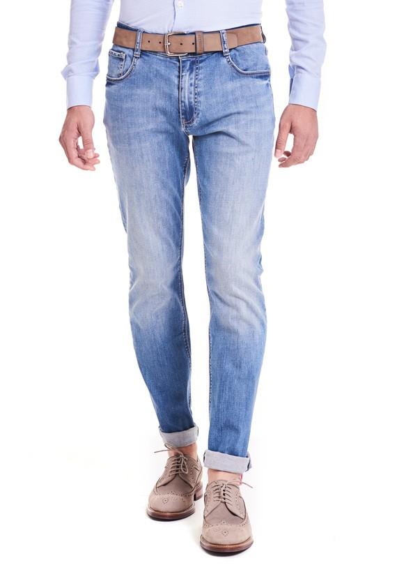 Pantalón vaquero regular - Azul