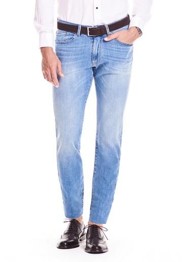 Pantalón 5 bolsillos slim vaquero