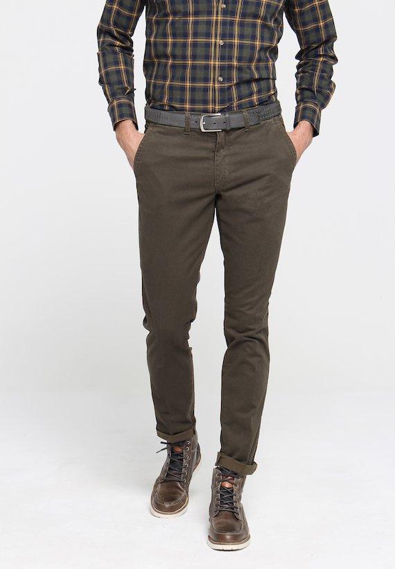 Pantalón chino micro estampado