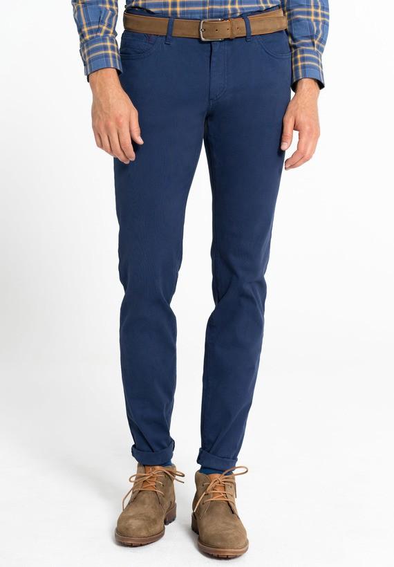 Pantalón 5 bolsillos micro estructura semi slim