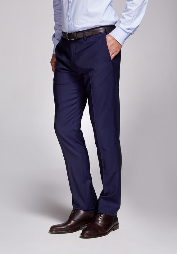 Pantalón lana medium azul - Azul