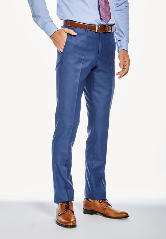 Pantalón vestir medium tejido liso - Azul