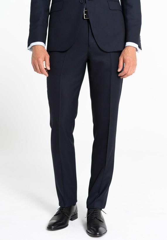 Pantalón vestir regular tejido falso liso