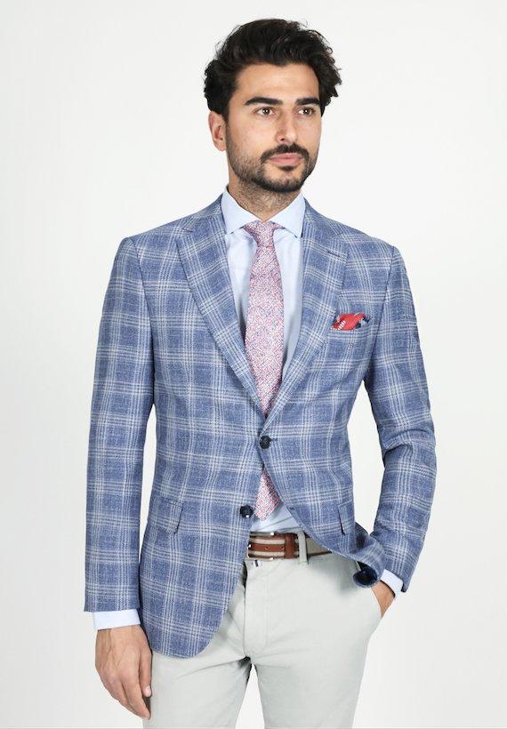 Americana medium príncipe de gales - Azul