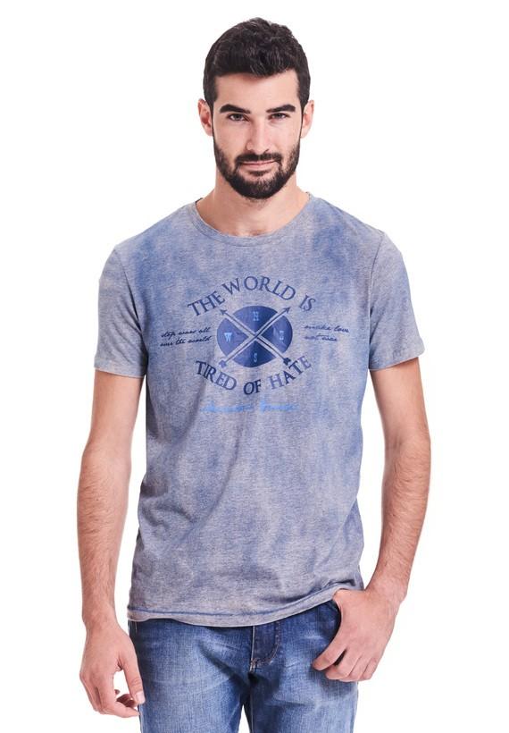 Camiseta slim fit de mangas cortas y cuello redondo