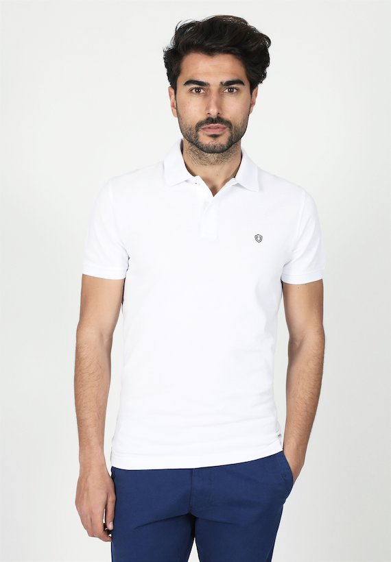Polo regular fit de mangas cortas y cuello de canalé