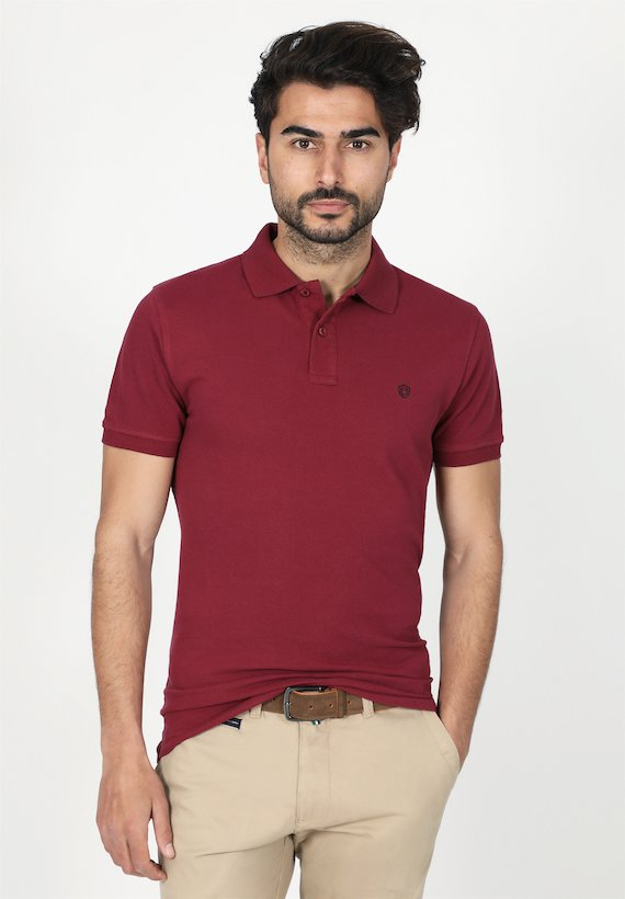 Polo regular fit de manga corta y cuello de canalé